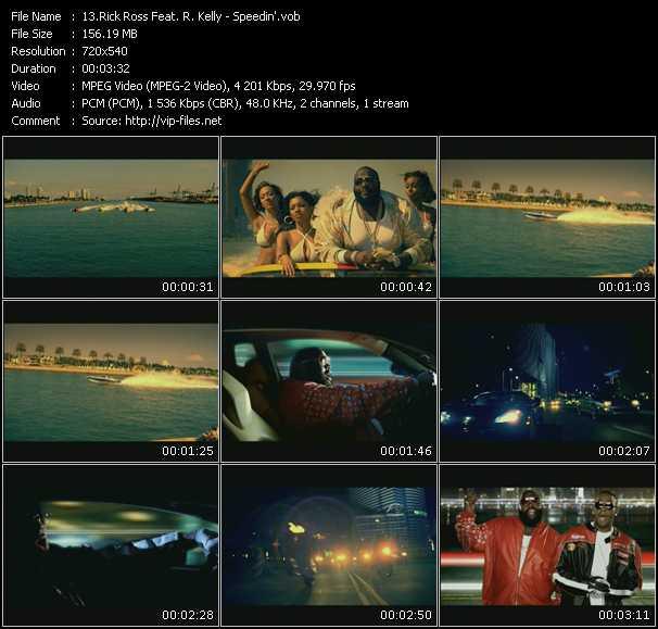 Rick Ross Feat. R. Kelly HQ Videoclip «Speedin'»