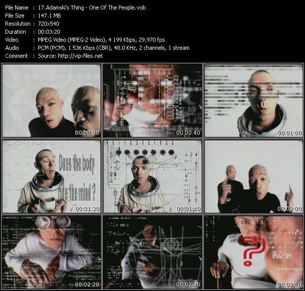 Adamski's Thing HQ Videoclip «One Of The People»