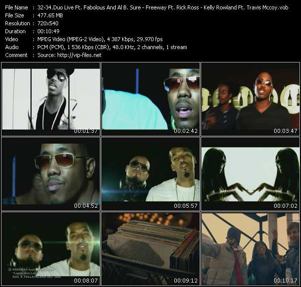 Duo Live Feat. Fabolous And Al B. Sure! - Freeway Feat. Rick Ross - Kelly Rowland Feat. Travis McCoy HQ Videoclip «Princess - Lights Get Low - Daylight»