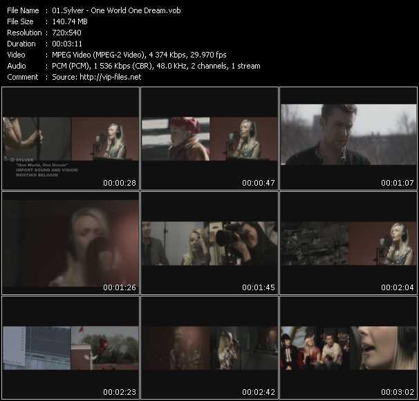 Sylver HQ Videoclip «One World One Dream»