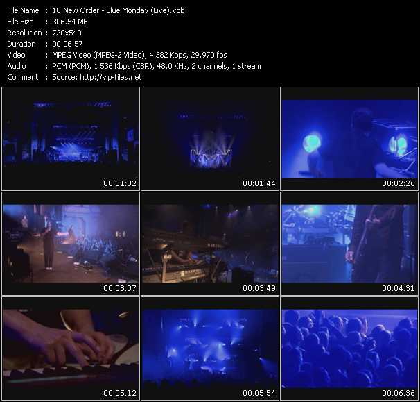 New Order HQ Videoclip «Blue Monday (Live)»
