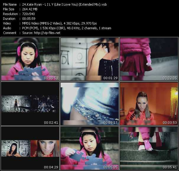 Kate Ryan HQ Videoclip «L I L Y (Like I Love You) (Extended Mix)»