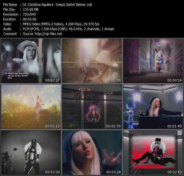 Christina Aguilera HQ Videoclip «Keeps Gettin' Better»