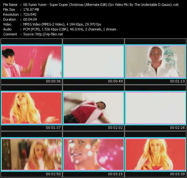 Yumm Yumm HQ Videoclip «Super Duper Christmas (Alternate Edit) (Isv Video Mix By The Undeniable D.Gauss)»