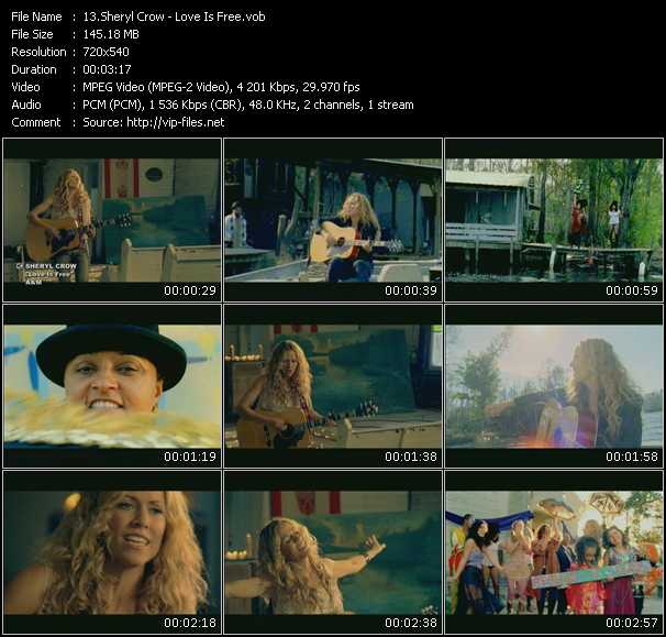Sheryl Crow HQ Videoclip «Love Is Free»