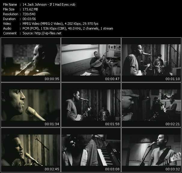 Jack Johnson HQ Videoclip «If I Had Eyes»