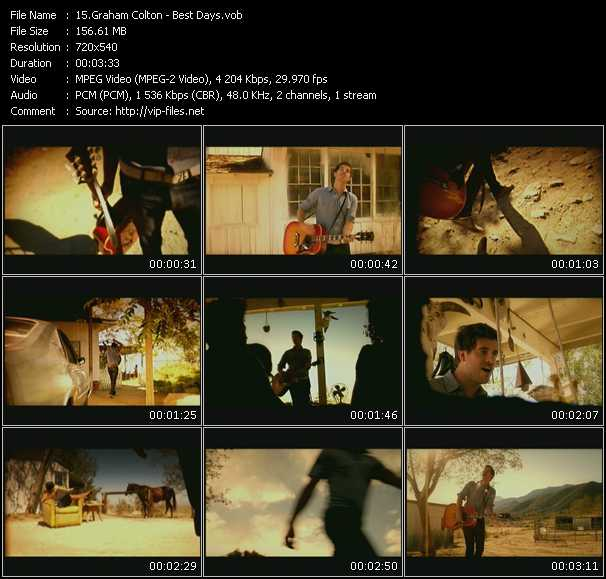 Graham Colton HQ Videoclip «Best Days»