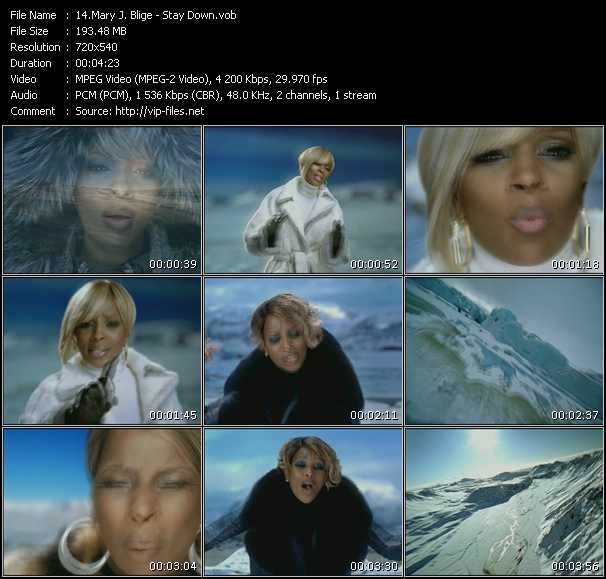 Mary J. Blige video - Stay Down