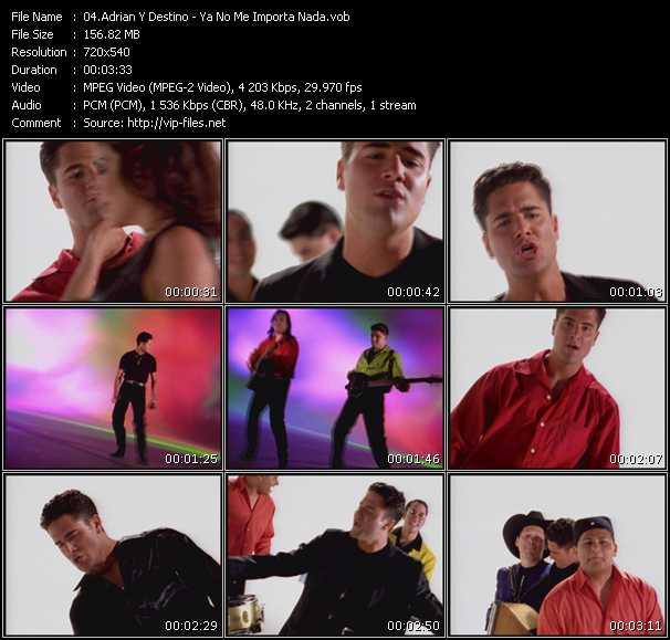 Adrian Y Destino HQ Videoclip «Ya No Me Importa Nada»