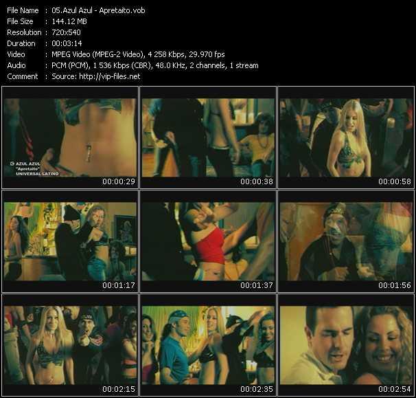 Azul Azul HQ Videoclip «Apretaito»