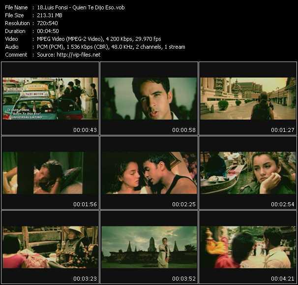 Luis Fonsi HQ Videoclip «Quien Te Dijo Eso»