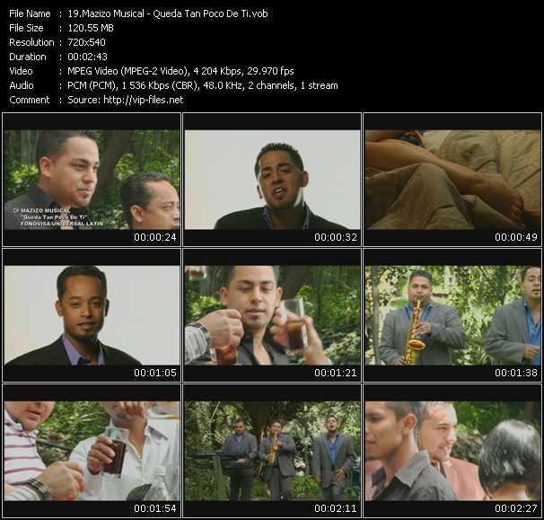 Mazizo Musical HQ Videoclip «Queda Tan Poco De Ti»