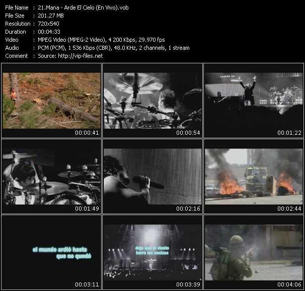 Mana HQ Videoclip «Arde El Cielo (En Vivo)»