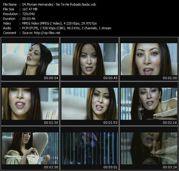 Myriam Hernandez HQ Videoclip «No Te He Robado Nada»