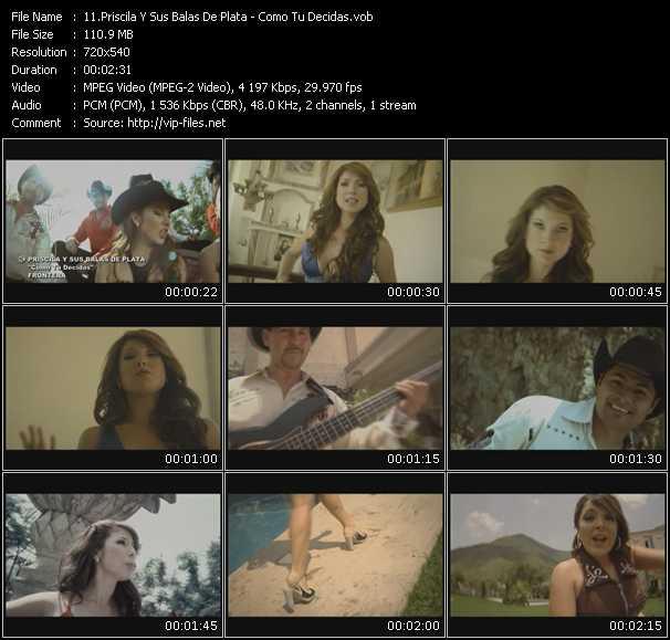 Priscila Y Sus Balas De Plata HQ Videoclip «Como Tu Decidas»