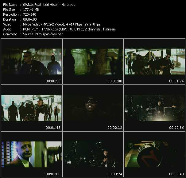 Nas Feat. Keri Hilson HQ Videoclip «Hero»