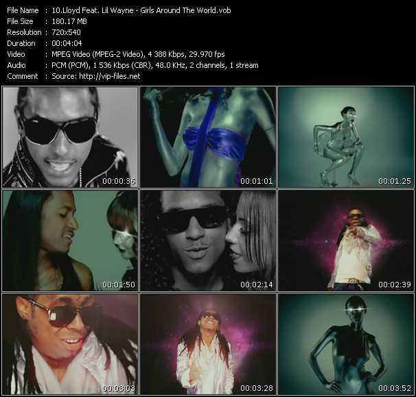 Lloyd Feat. Lil' Wayne HQ Videoclip «Girls Around The World»