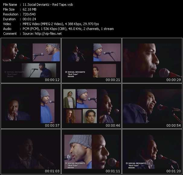 Social Deviantz HQ Videoclip «Red Tape»