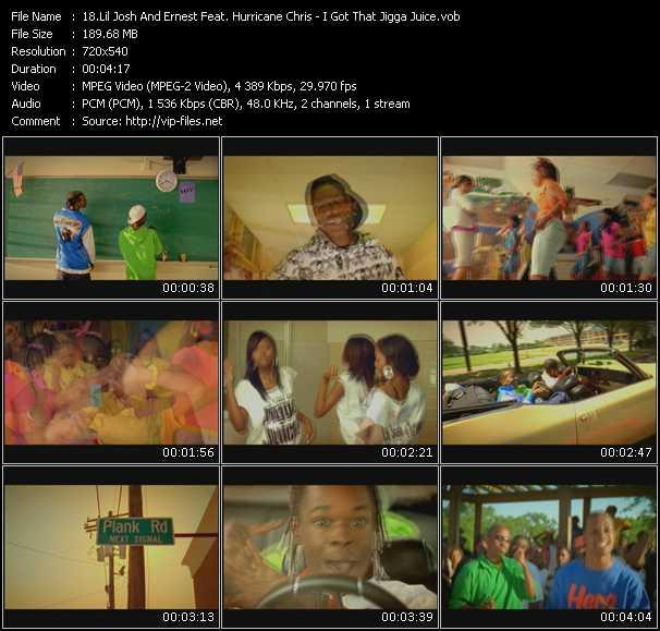 Lil' Josh And Ernest Feat. Hurricane Chris HQ Videoclip «I Got That Jigga Juice»