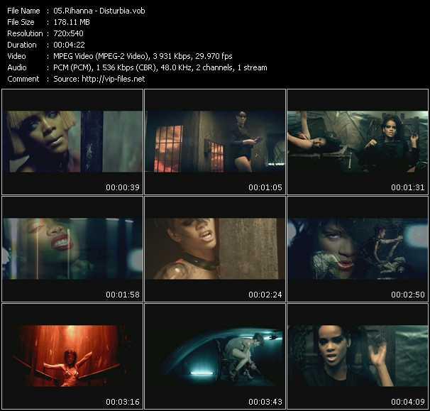 Rihanna video - Disturbia