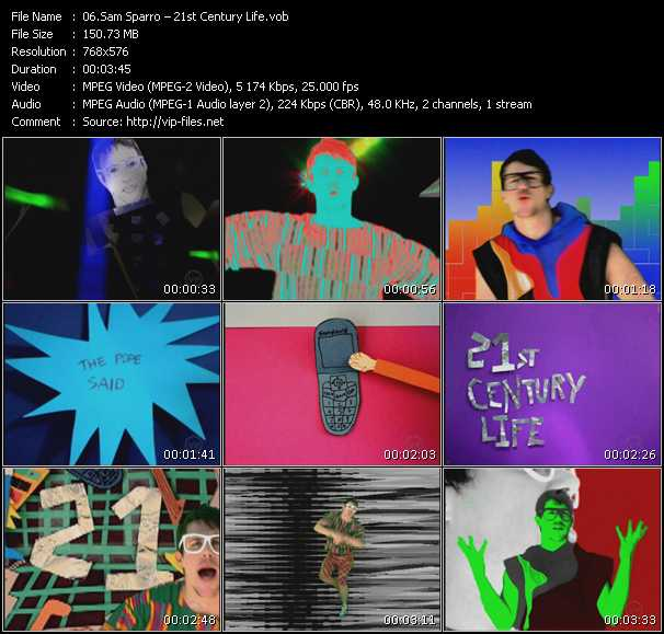 Sam Sparro HQ Videoclip «21st Century Life»
