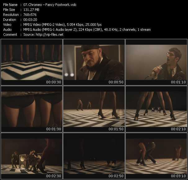 Chromeo HQ Videoclip «Fancy Footwork»