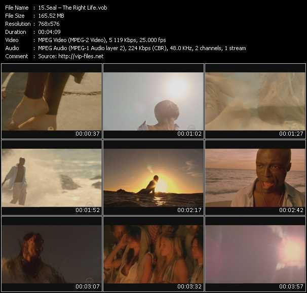 Seal HQ Videoclip «The Right Life»