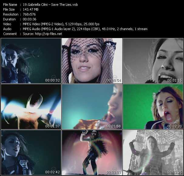 Gabriella Cilmi video - Save The Lies