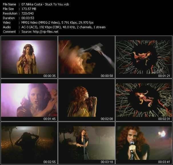 Nikka Costa HQ Videoclip «Stuck To You»