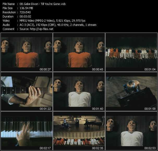 Gabe Dixon HQ Videoclip «Till You're Gone»