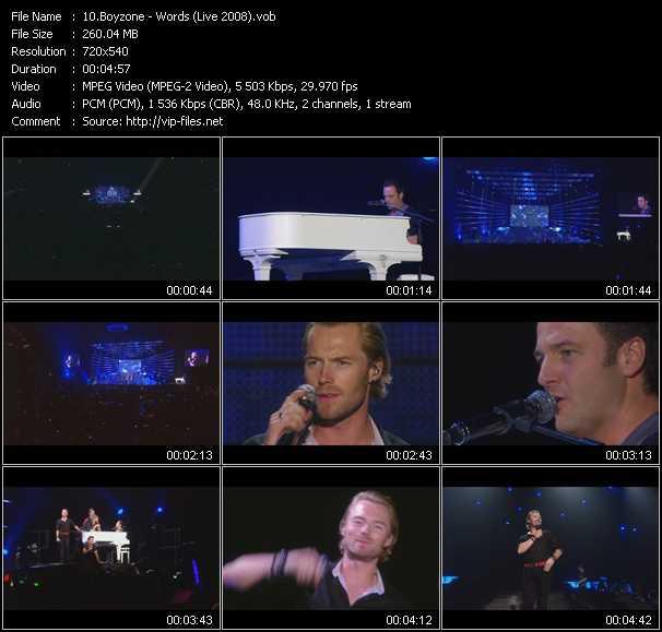 Boyzone HQ Videoclip «Words (Live 2008)»