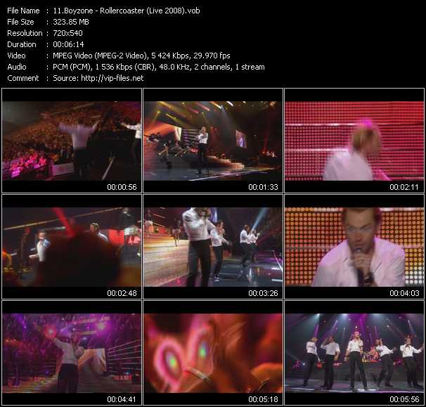 Boyzone HQ Videoclip «Rollercoaster (Live 2008)»