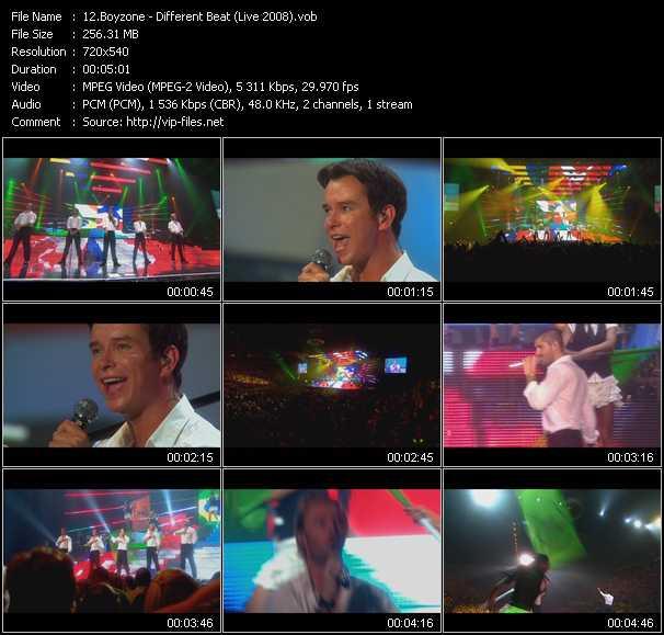 Boyzone HQ Videoclip «A Different Beat (Live 2008)»
