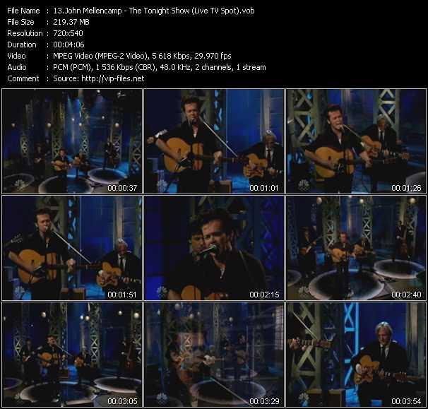 John Cougar Mellencamp HQ Videoclip «The Tonight Show (Live TV Spot)»