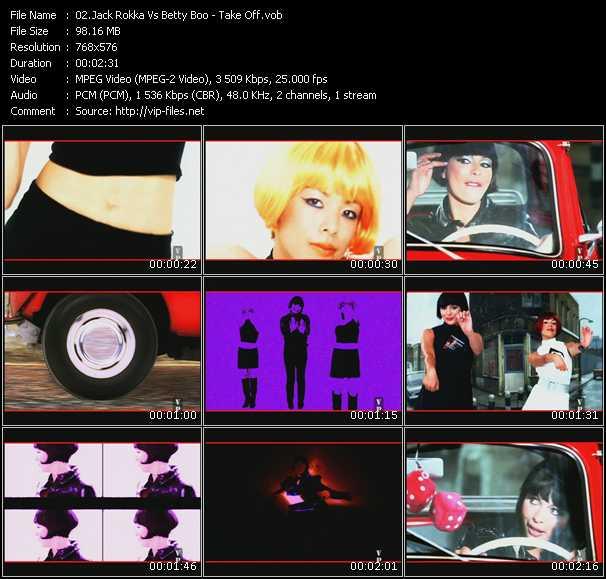Jack Rokka Vs. Betty Boo HQ Videoclip «Take Off»
