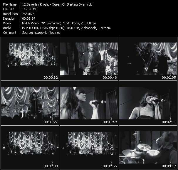 Beverley Knight HQ Videoclip «Queen Of Starting Over»