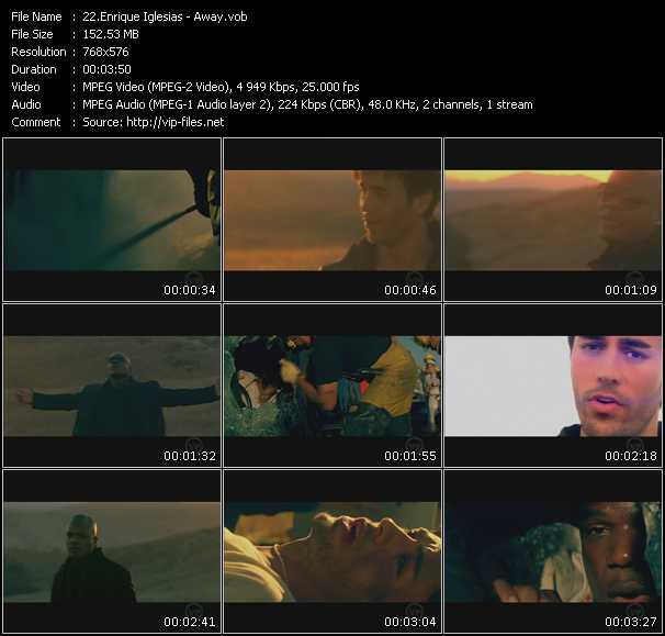 Enrique Iglesias HQ Videoclip «Away»