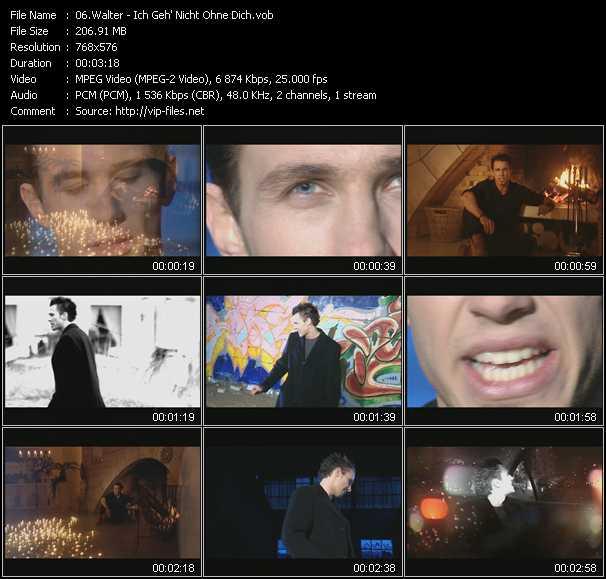 Walter video - Ich Geh' Nicht Ohne Dich