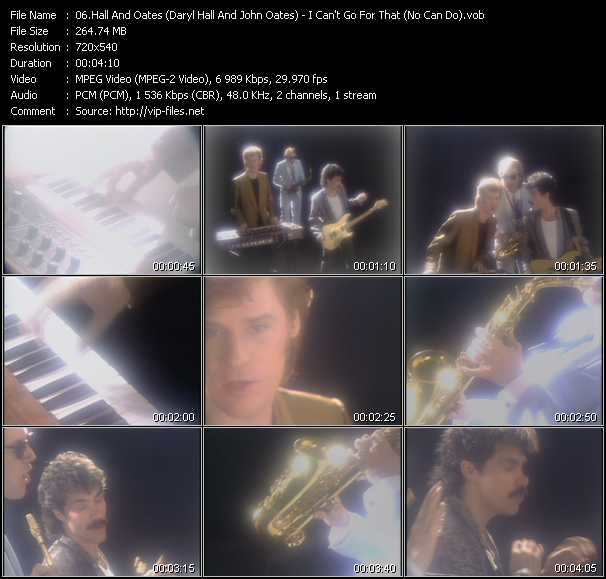 Hall And Oates (Daryl Hall And John Oates) video - I Can't Go For That (No Can Do)