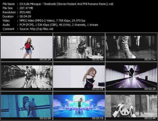 Kylie Minogue video - Timebomb (Steven Redant And Phil Romano Remix)