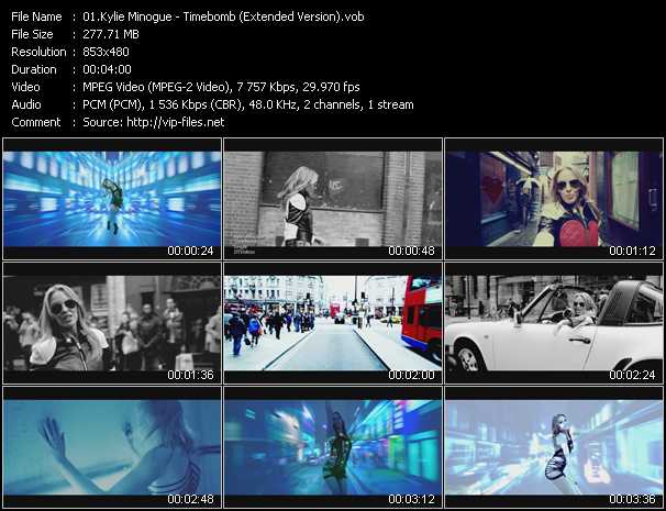 Kylie Minogue video - Timebomb (Extended Version)