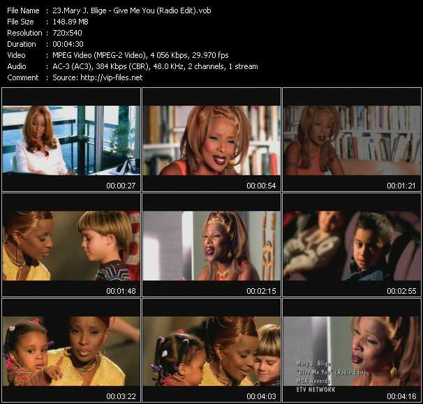 Mary J. Blige video - Give Me You (Radio Edit)
