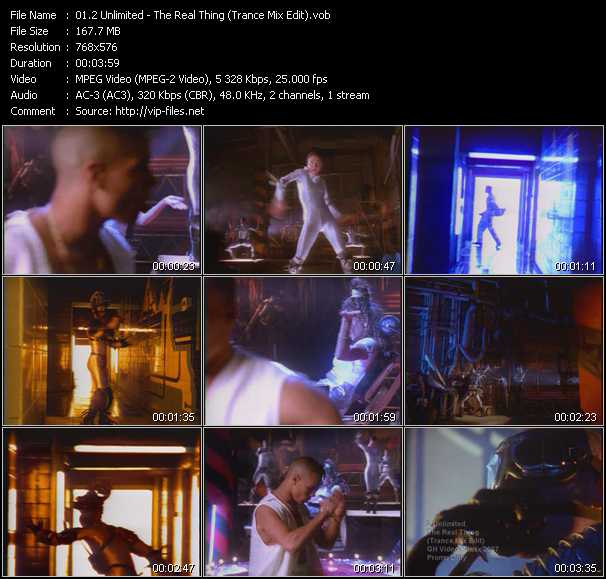 2 Unlimited video - The Real Thing (Trance Mix Edit)