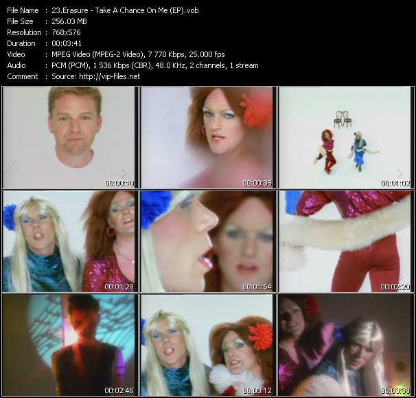 Erasure video - Take A Chance On Me (EP)