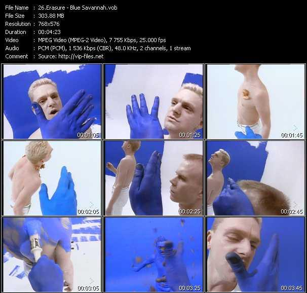 Erasure video - Blue Savannah