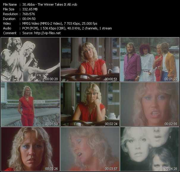 Abba HQ Videoclip «The Winner Takes It All»