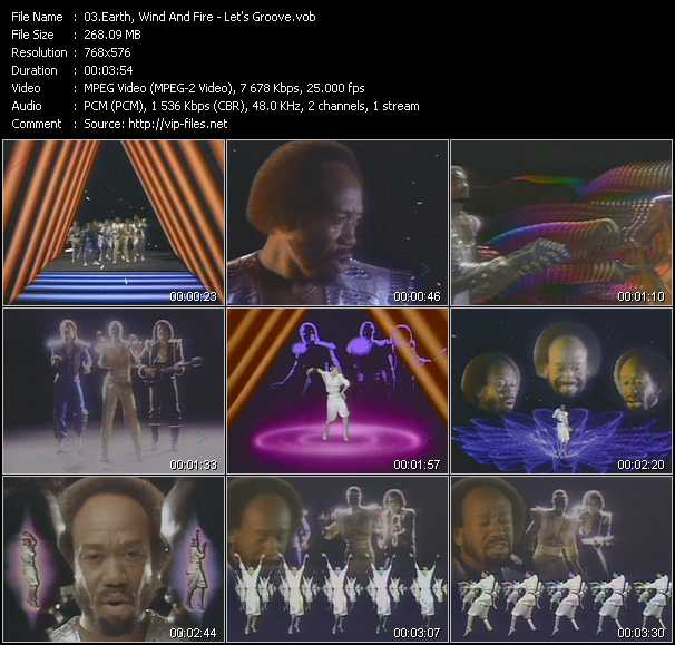 Earth, Wind And Fire video - Let's Groove