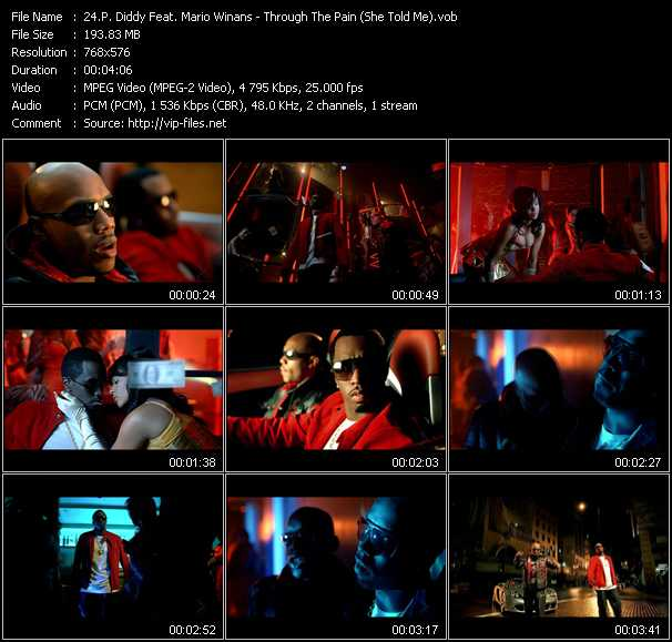 P. Diddy (Puff Daddy) Feat. Mario Winans video - Through The Pain (She Told Me)