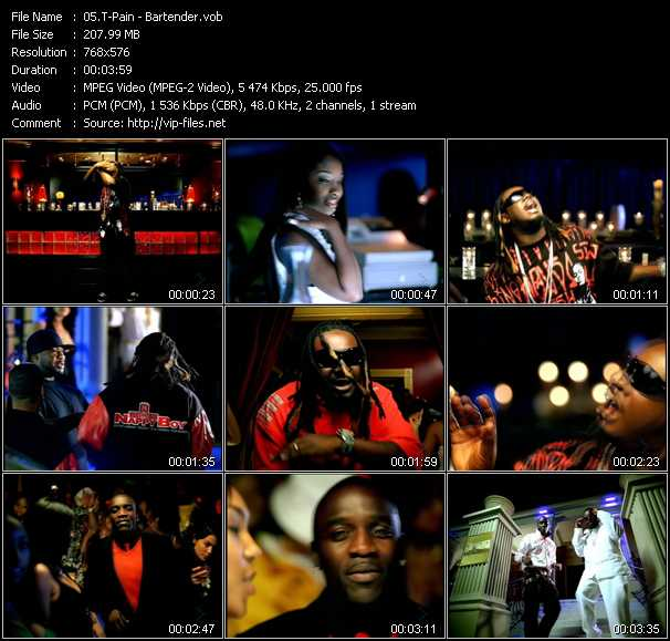 T-Pain video - Bartender