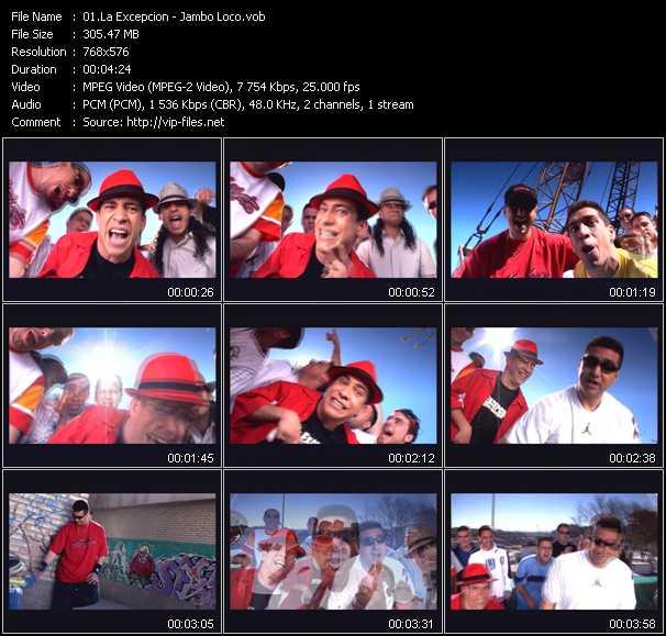 La Excepcion music video Publish2